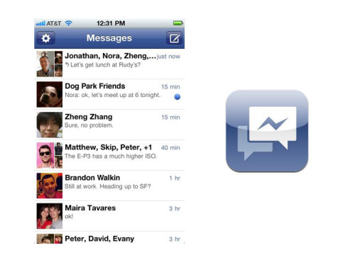Facebook Messenger © Apple