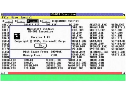 Windows 1.0: MS-DOS Executive © Microsoft