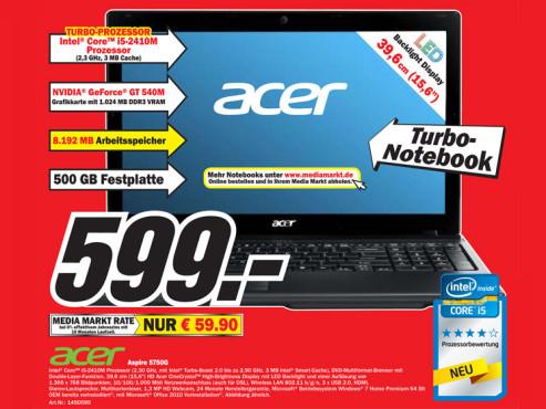 Acer Aspire 5750G ©COMPUTER BILD