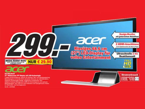 Acer S273HLAbmii ©COMPUTER BILD