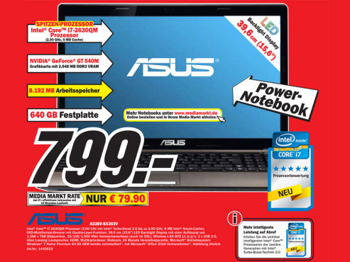 Asus A53SV-SX303V ©COMPUTER BILD