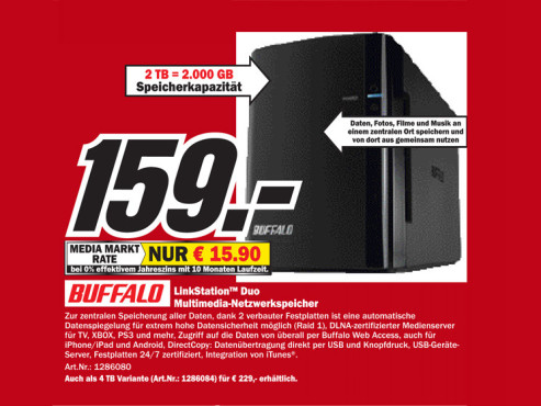 Buffalo Technology LinkStation Duo 2TB © COMPUTER BILD