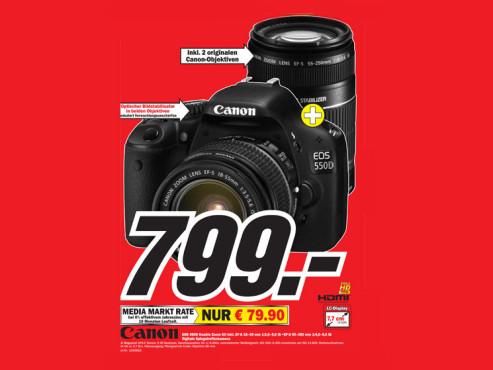 Canon EOS 550D Kit 18-55 mm + 55-250 mm ©COMPUTER BILD