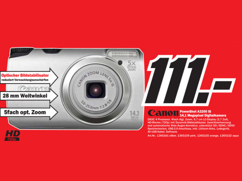 Canon PowerShot A3200 IS © COMPUTER BILD