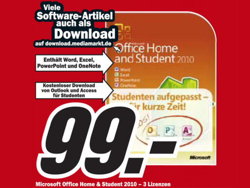 Microsoft Office Home & Student 2010 © COMPUTER BILD