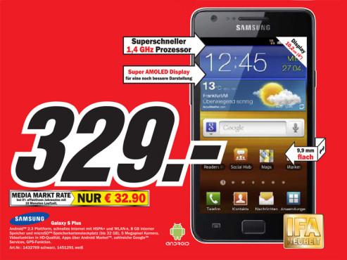 Samsung Galaxy S Plus ©COMPUTER BILD