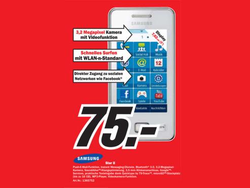Samsung Star II S5260 ©COMPUTER BILD