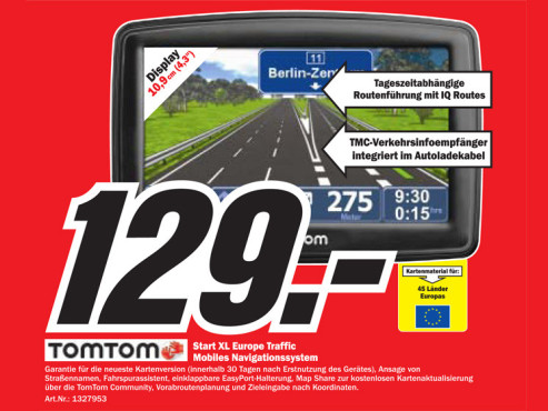 TomTom Start XL Europe Traffic © COMPUTER BILD