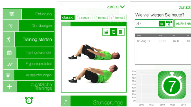 7 Min Workout – 7-Minuten-Trainingseinheit © Fitness Guide Inc