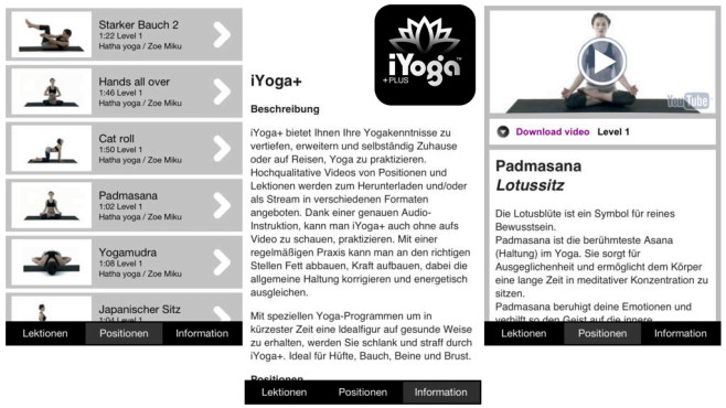 iYoga+ Screen © Breitschmid Productions