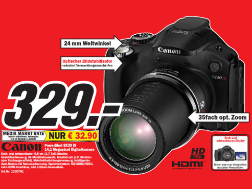 Canon PowerShot SX30 IS © Media Markt