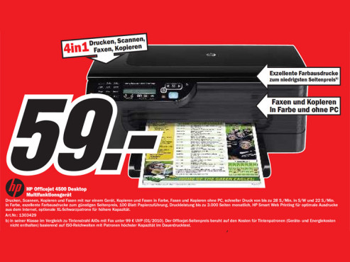 HP Officejet 4500 Desktop © Media Markt