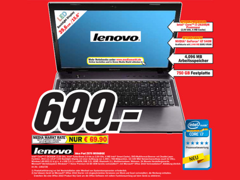 Lenovo Idea Pad Z570 M556BGE © Media Markt