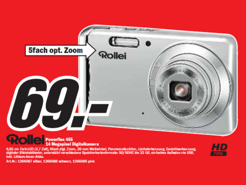 Rollei Powerflex 455 © Media Markt