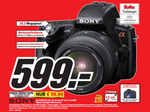 Sony SLT-A35K Kit + 18-55 mm © Media Markt
