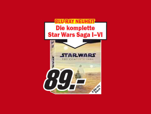 Star Wars Saga I-VI © Media Markt