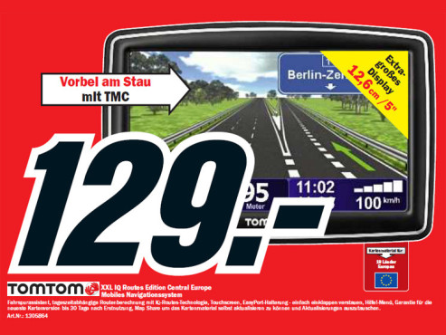 TomTom XXL IQ Routes Edition Central Europe © Media Markt