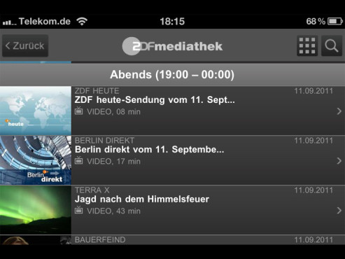 ZDFmediathek ©ZDF Online