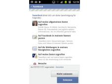 Facebook-App bittet um Erlaubnis ©Computerbild