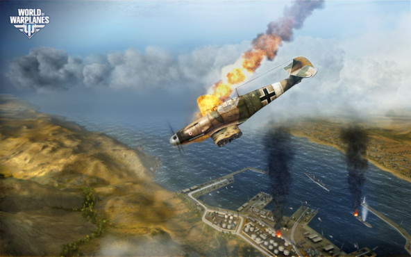Online-Actionspiel World of Warplanes: Absturz © Wargaming.net