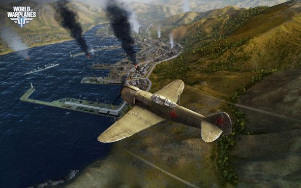 Online-Actionspiel World of Warplanes: Hafenanlage © Wargaming.net