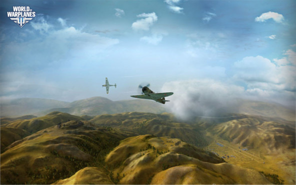 Online-Actionspiel World of Warplanes: HÜgel © Wargaming.net