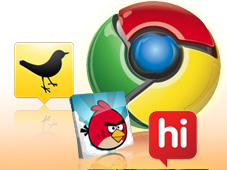 Google Chrome optimieren © Tweet Deck, Angry Bird, Google