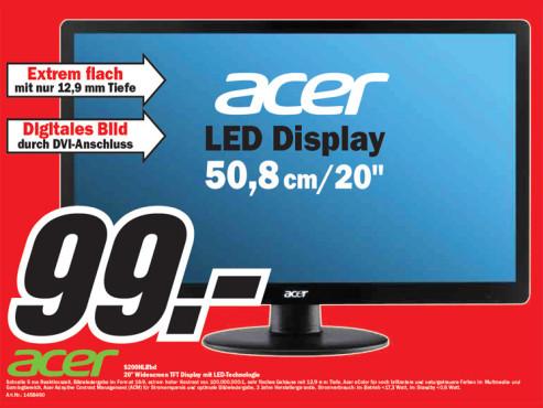 Acer S200HLBbd 20 Zoll Widescreen TFT ©Media Markt