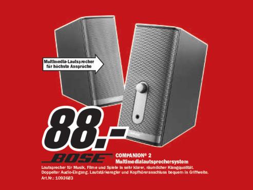 Bose COMPANION 2 ©Media Markt