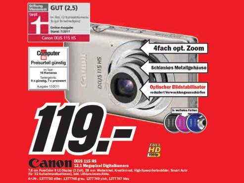 Canon IXUS 115 HS ©Media Markt