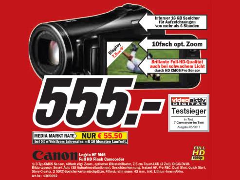 Canon Legria HF M46 ©Media Markt