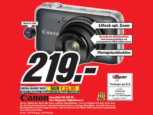 Canon PowerShot SX 220 HS ©Media Markt