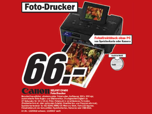 Canon SELPHY CP800 ©Media Markt