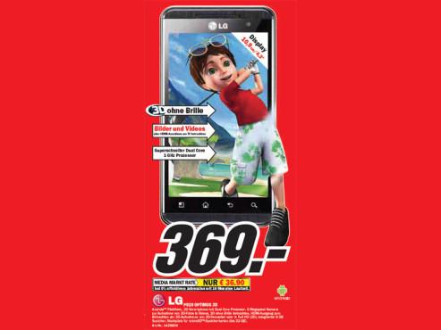 LG P930 OPTIMUS 3D ©Media Markt