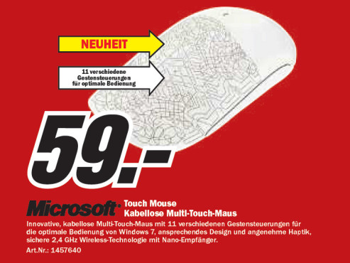 Microsoft Touch Mouse © Media Markt