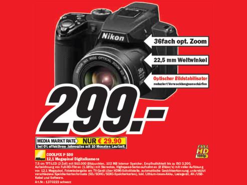 Nikon COOLPIX P 500 ©Media Markt