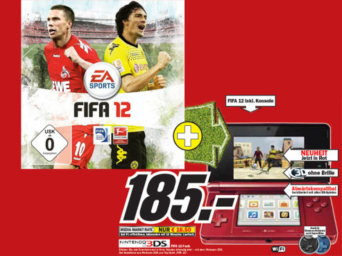 Nintendo 3DS FIFA 12 Pack © Media Markt
