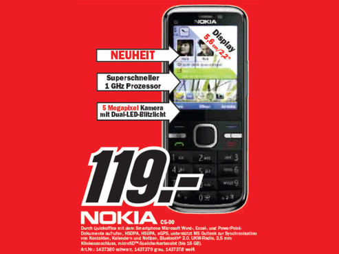 Nokia C5-00 ©Media Markt