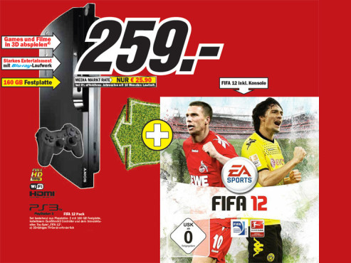 Play Station 3 FIFA 12 Pack © Media Markt