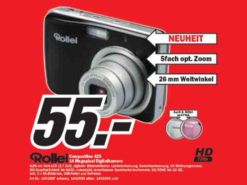 Rollei Compactline 425 ©Media Markt