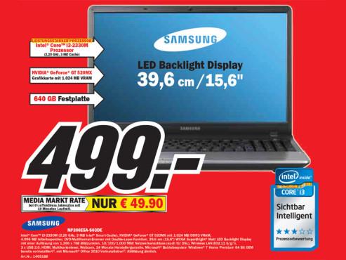 Samsung NP300E5A-S03DE ©Media Markt