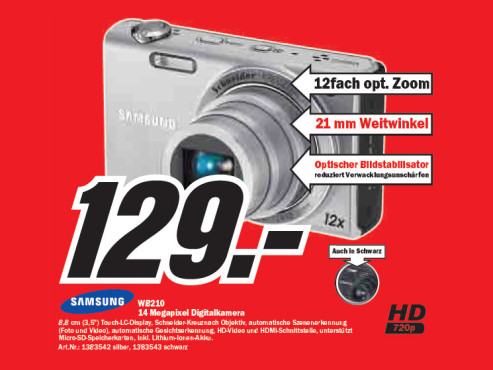 Samsung WB210 ©Media Markt
