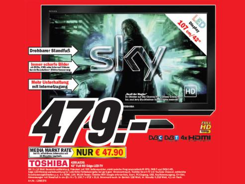 Toshiba 42RL833G ©Media Markt