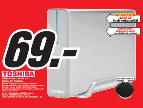 Toshiba STOR.E ALU IIS 2TB USB 3.0 ©Media Markt