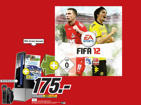 Wii Sports Resort FIFA 12 Pack © Media Markt