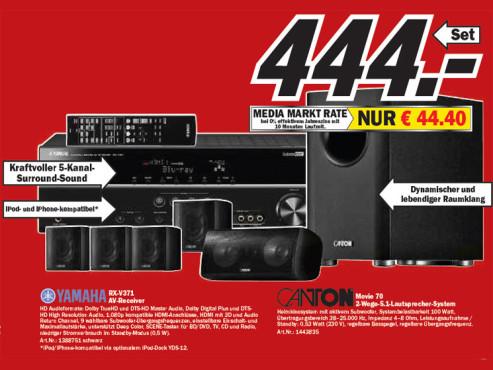 Yamaha RX-V371 ©Media Markt