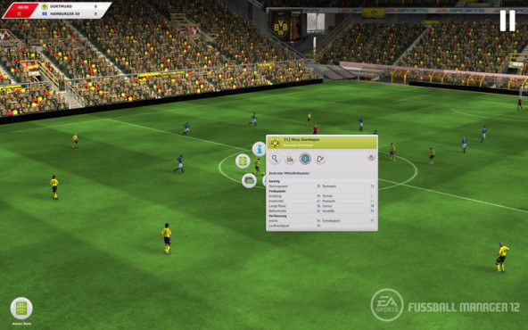 Simulation Fu�ball Manager 12: 3D-Spiel © Electronic Arts