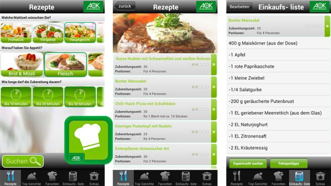 Gesund-Genießen-App Screen ©AOK Bundesverband