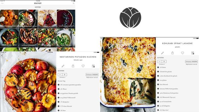 Krautkopf – saisonale vegetarische Rezepte ©Nibble Apps Ltd