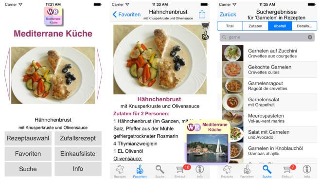 Mediterrane Küche ©Artedy Apps